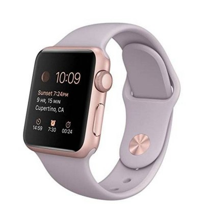 Ремешок для Apple Watch 38mm Silicone (Lilac)