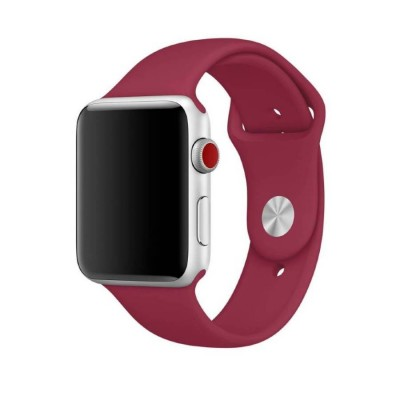 Ремешок для Apple Watch 38mm Silicone (Red Raspberry)