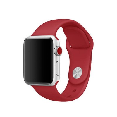 Ремешок для Apple Watch 38mm Silicone (Red)