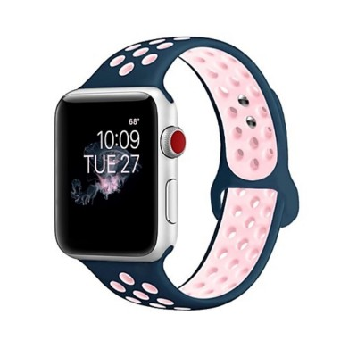 Ремешок для Apple Watch 42mm Nike silicone black/pink