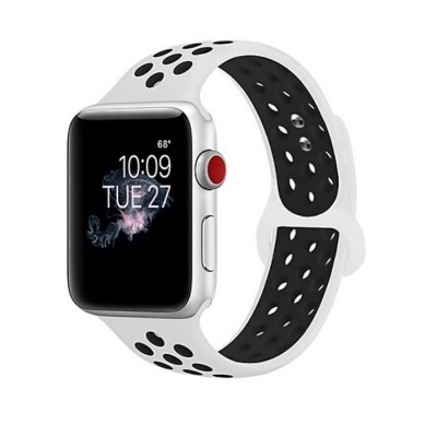 Ремешок для Apple Watch 38mm Nike silicone white/black